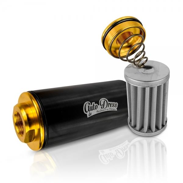 Kraftstofffilter in Schwarz & Gold - 8,6mm, AN6, AN8, AN10 von Auto-Dress