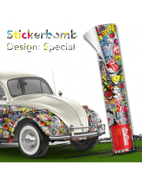 Stickerbomb Autofolie -  Design: Special