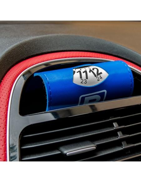 2x Auto Parkscheibe aus Kunstleder - 11x15cm
