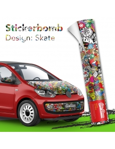 Stickerbomb Autofolie -  Design: Skate