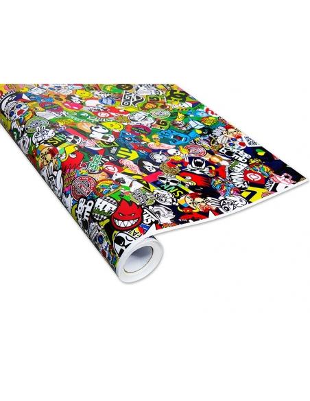 Stickerbomb Autofolie -  Design: Skate