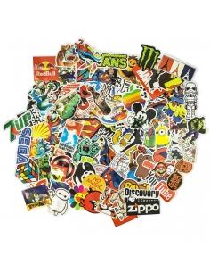 100 Sticker Aufkleber Stickerbomb