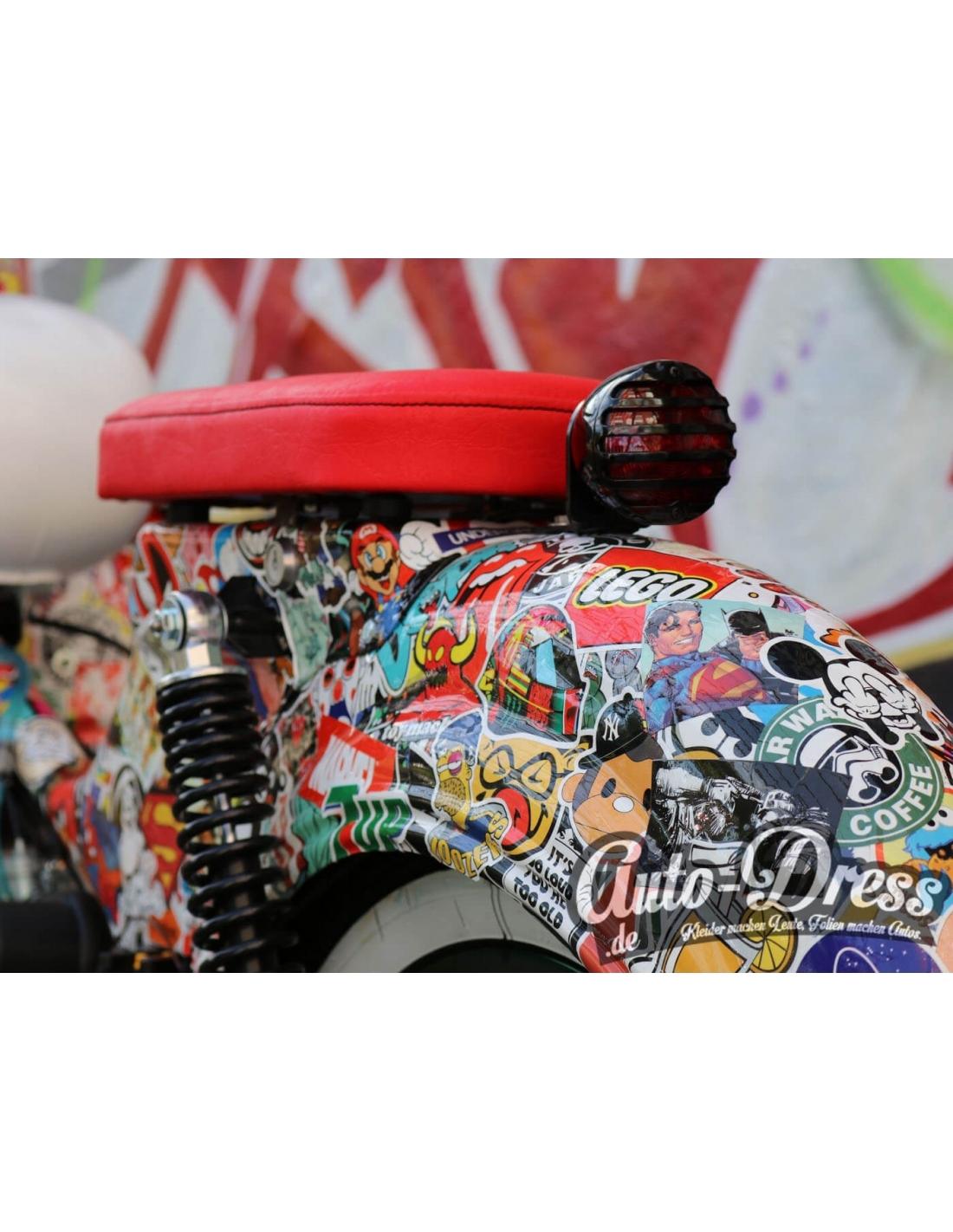 100 Aufkleber Sticker Retro Graffiti Style Echte