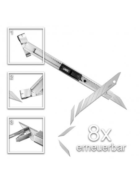 Edelstahl Cuttermesser - Deli SK5 9mm 30° Klinge