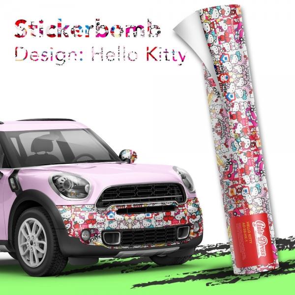 Stickerbomb Autofolie -  Design: Hello Kitty