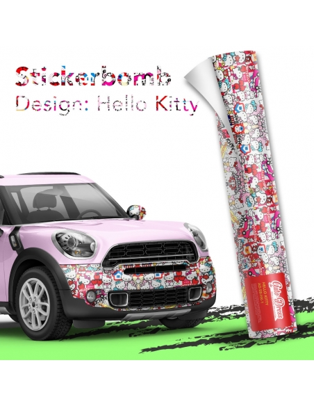 Stickerbomb Autofolie -  Design: Hello Kitty